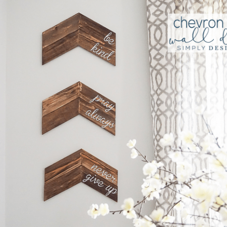 Customizable Chevron Arrow Wall Decor - I love how you can customize this for your own family