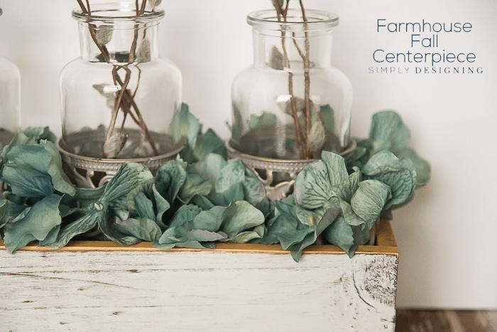 Farmhouse Fall Centerpiece with hydrangea
