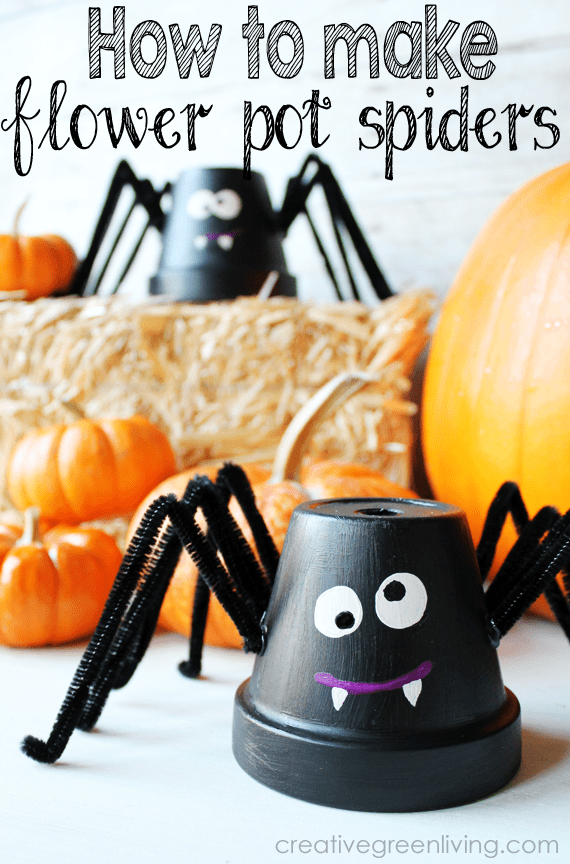 Cute Flower Pot Spider by Creative Green Living