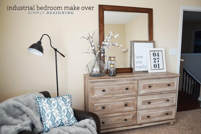 DIY Industrial Bedroom Make Over