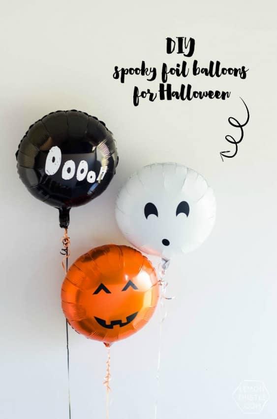 DIY Spooky Foil Balloons by Lemon Thistle