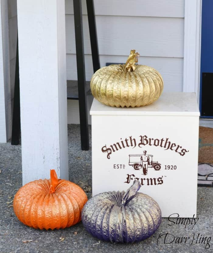 Dryer Duct Pumpkins by Simply Darrling