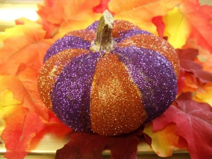 Glittered Pumpkins by Ann Butler Designs