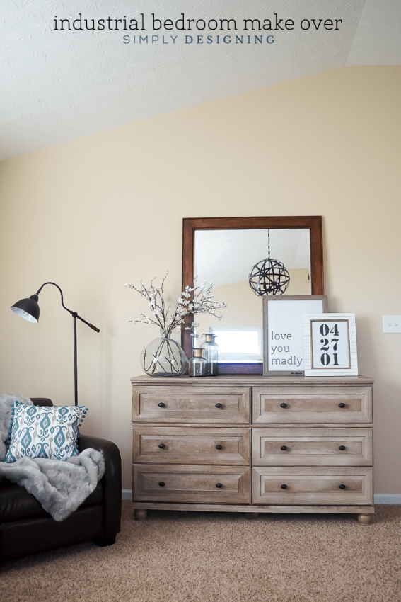 industrial bedroom make over - these simple updated transformed this room into something amazing and functional