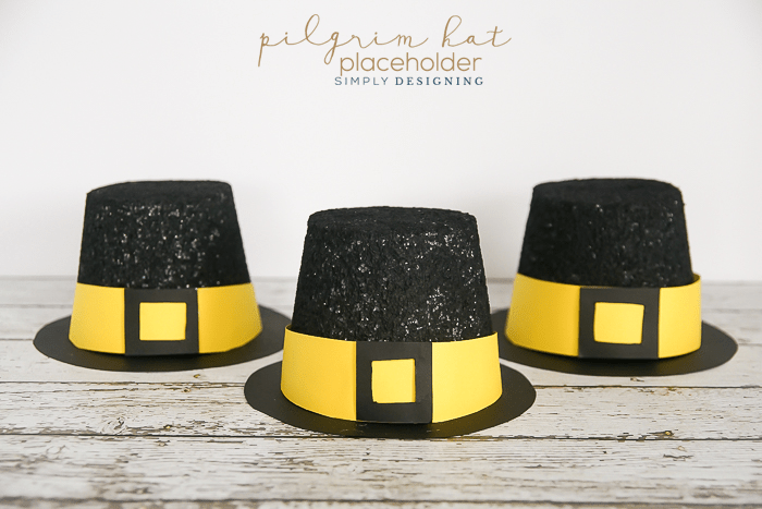 Pilgrim Hat Placeholders - a fun Thanksgiving craft