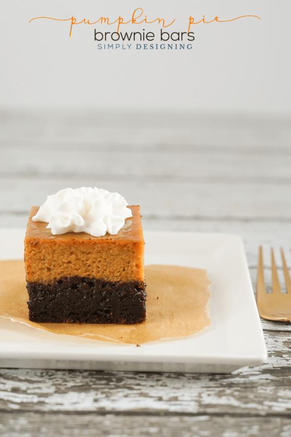 Pumpkin Pie Brownie Bar Recipe