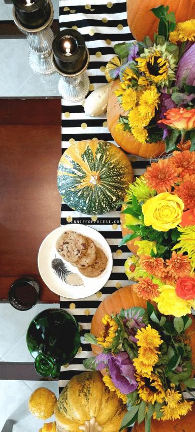 Pumpkin Centerpiece with Fresh Flowers by Jennifer Priest