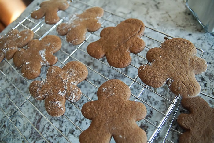 Gingerbread Cookies with Dippable Buttercream Frosting