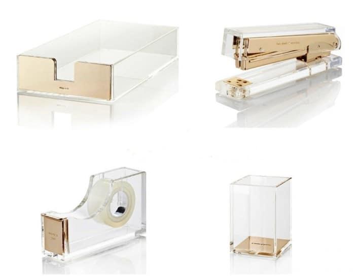 kate spade gold desk set