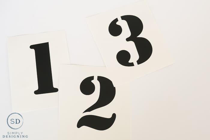 vinyl numbers