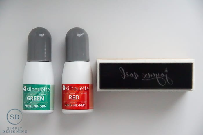 Make your own stamp with a Silhouette Mint