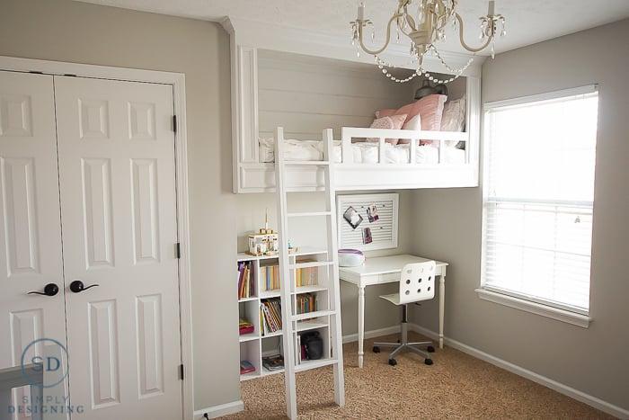 DIY White Loft Bed