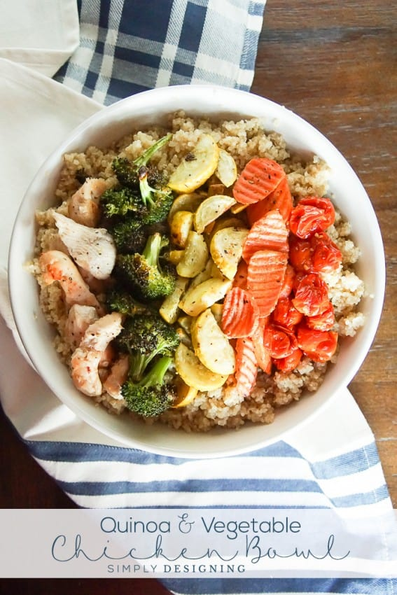 Healthy Quinoa and Vegetable Chicken Bowl - a delicious and simple dinner recipe