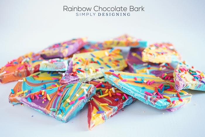 Rainbow Chocolate Bark a yummy st patricks day treat