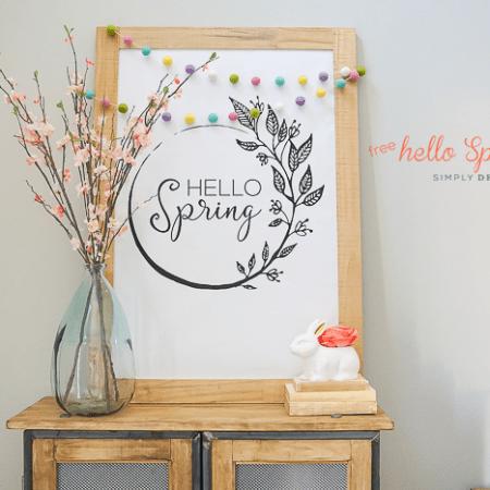 Free Hello Spring Print