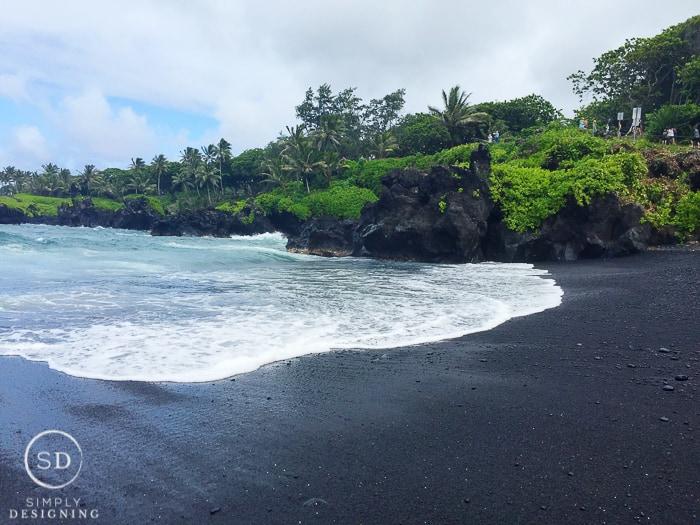 Road to Hana Maui Hawaii Black Sand Beach