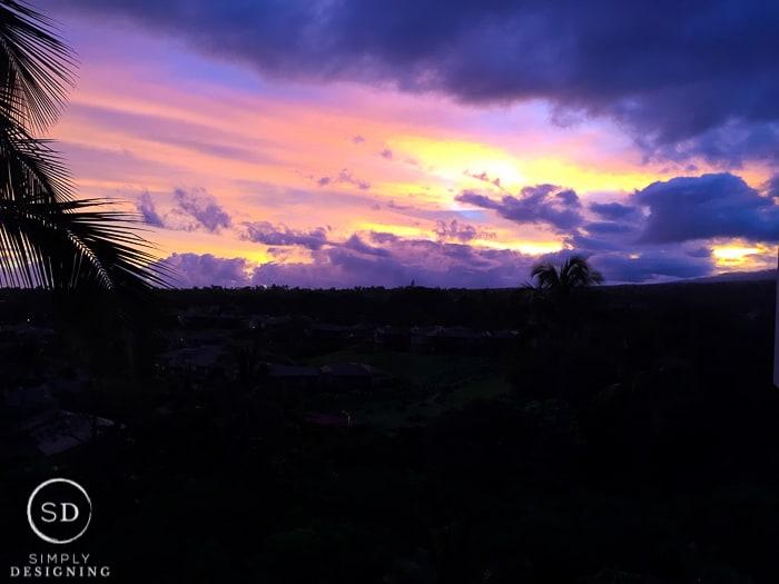 Sunrise in Maui Hawaii