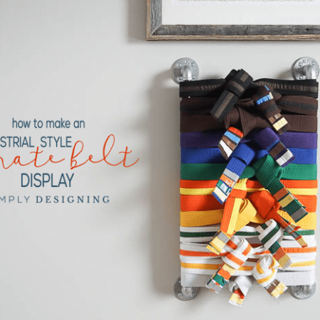 How to Make a Karate Belt Holder Easily