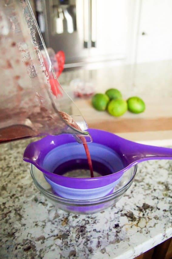 strain cherry puree