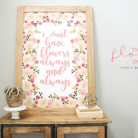 I Must Have Flowers Always and Always - free home decor print - watercolor - flowers - claude monet