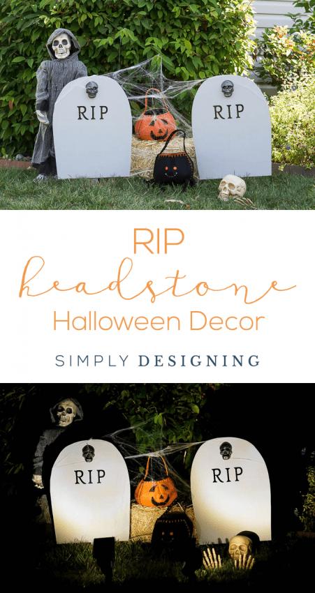 DIY Harvest Yard Sign - RIP Headstone Decoration - Halloween Decor