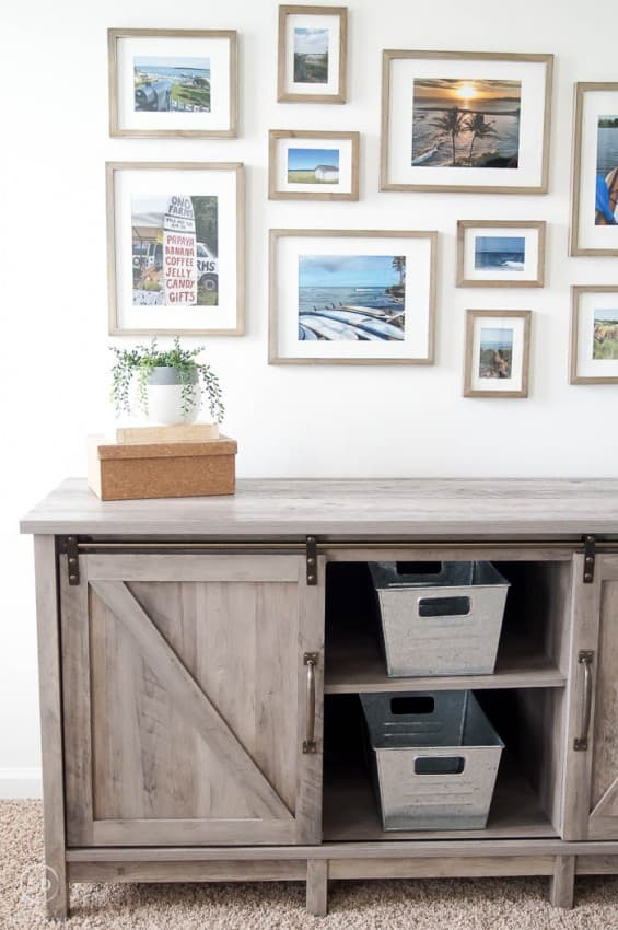 Farmhouse Office with Gallery Wall