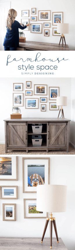 Farmhouse Office Makeover with farmhouse furniture and a beautiful gallery wall