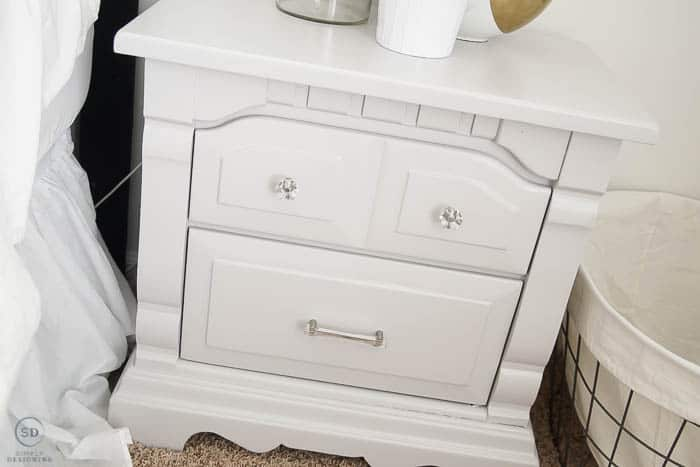Painted Grey Nightstands