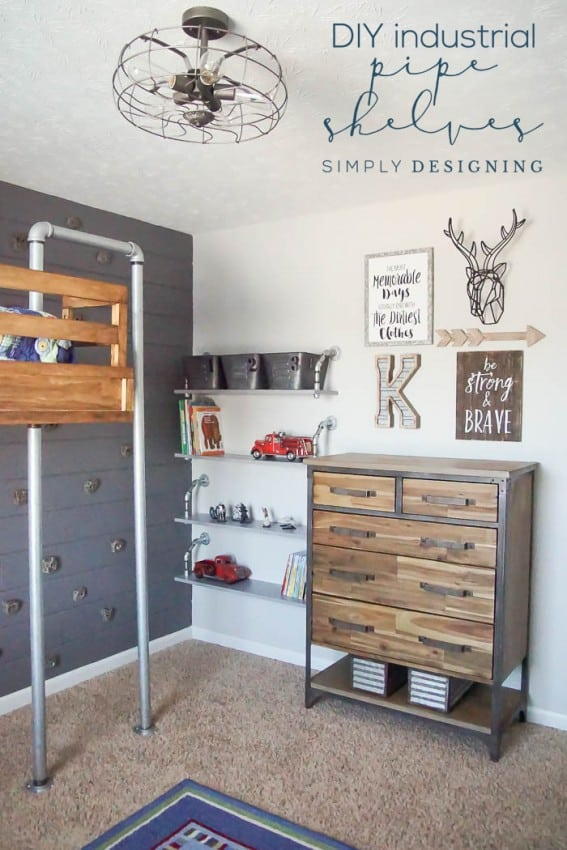 How to make Hanging Pipe Shelves