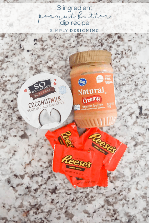 3 Ingredient Peanut Butter Dip Recipe Ingredients