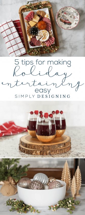 5 Tips to Make Holiday Entertaining Easy - Christmas Appetizers - Christmas Drinks - Christmas Dishes - Holiday Party
