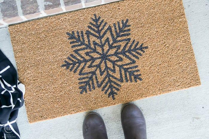 Christmas front door mat