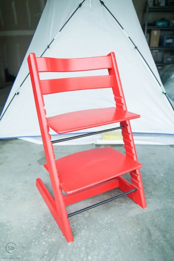 How to repaint a high chair - before