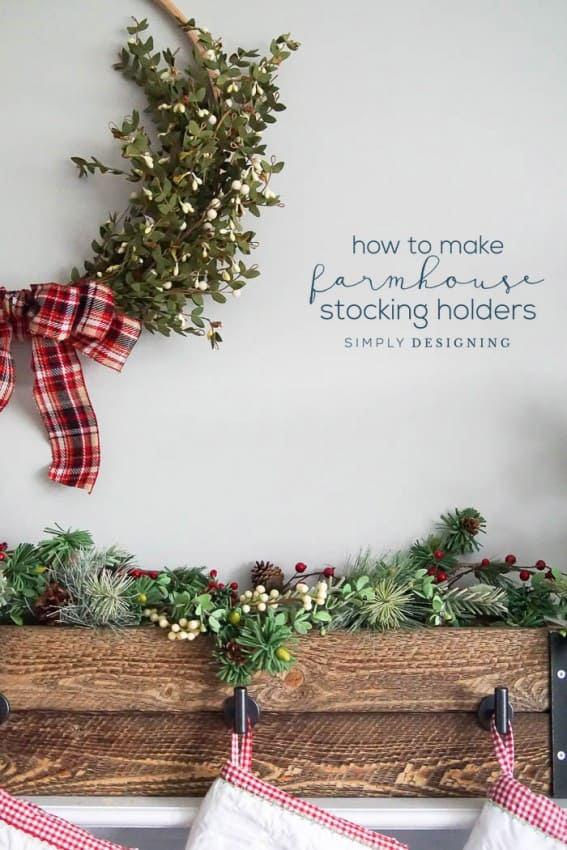 How to make Farmhouse Stocking Hanger Box