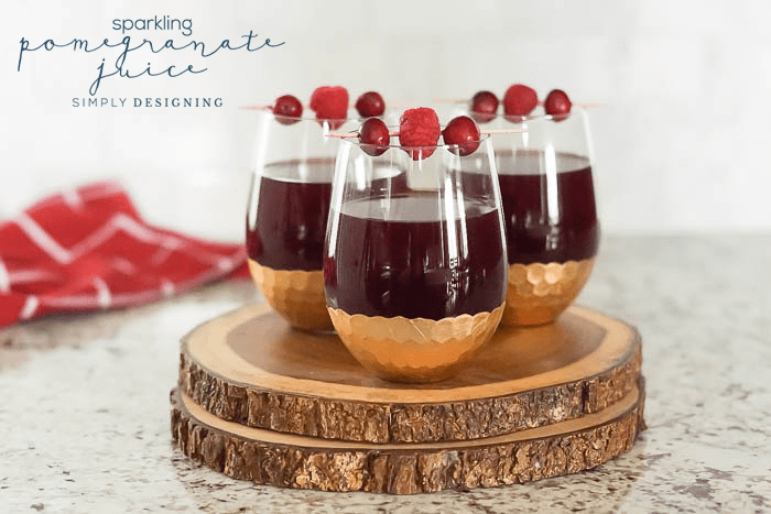 How to make Sparkling Pomegranate Juice