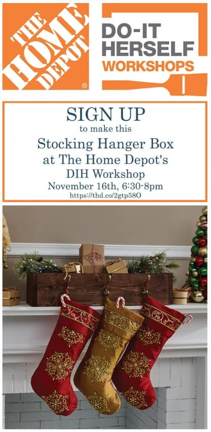 Make a Stocking Hanger Box at The Home Depot DIH Workshop