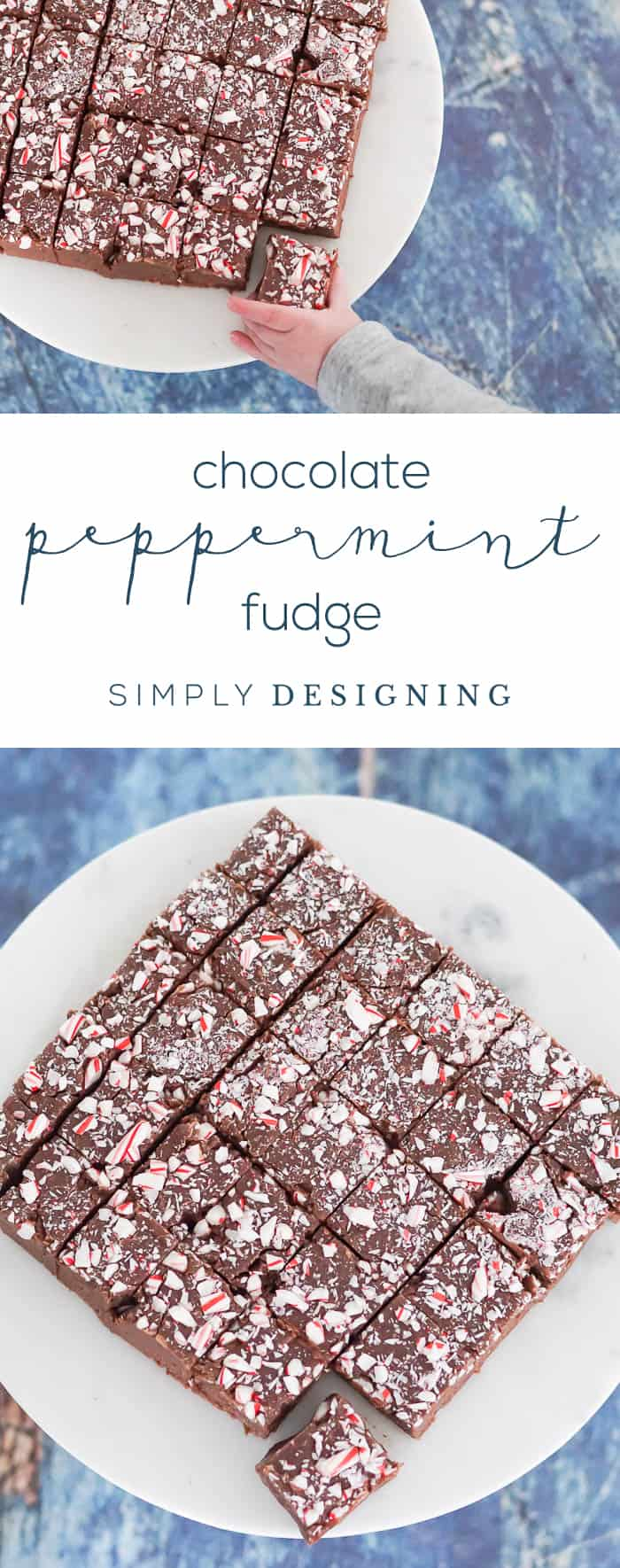 Chocolate Peppermint Fudge Recipe - the BEST chocolate fudge recipe with a hint of peppermint to take this to a whole new level of delicious