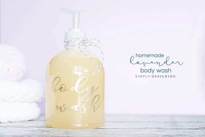 DIY Lavender Body Wash Recipe - a homemade body wash recipe - homemade lavender body wash