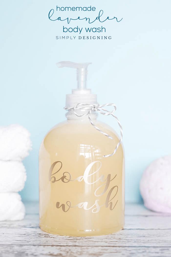 DIY Lavender Body Wash Recipe - an easy homemade body wash recipe - all natural body wash - all natural soap