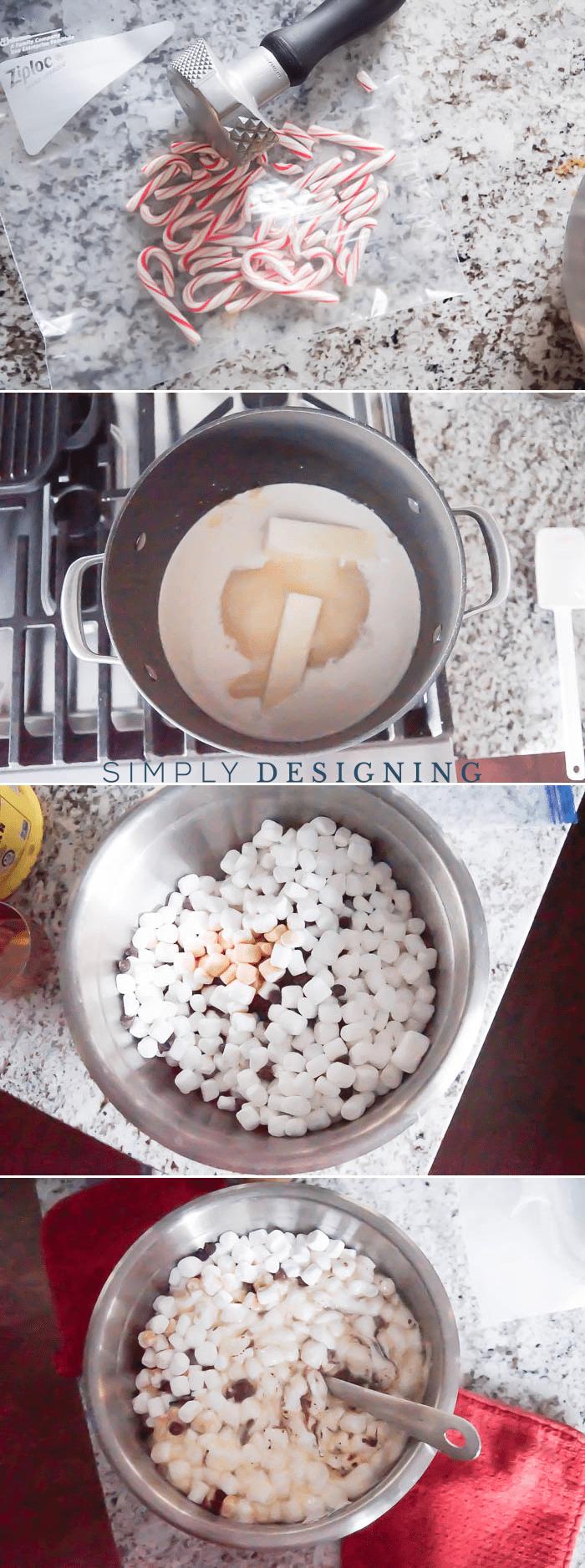 How to make Chocolate Peppermint Fudge