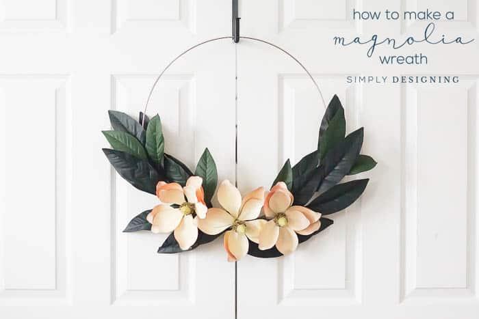 How to make a Farmhouse Magnolia Wreath