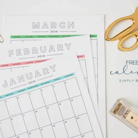 2018 printable Calendar - free 2018 calendar - monthly calendar printable
