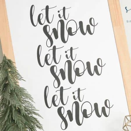 Free Winter Printable - Let It Snow Printable