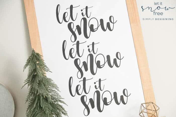 Free Winter Printable - Let It Snow Printable
