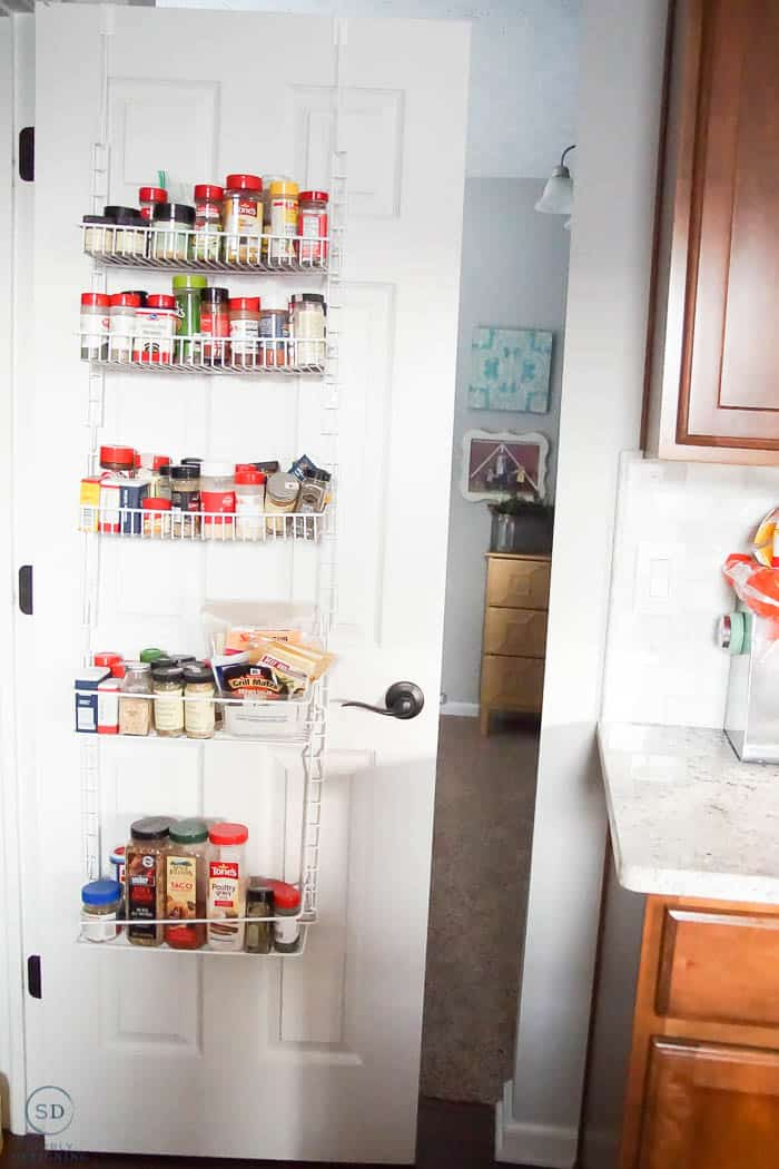 BEFORE hanging spice rack - stop by to see the after