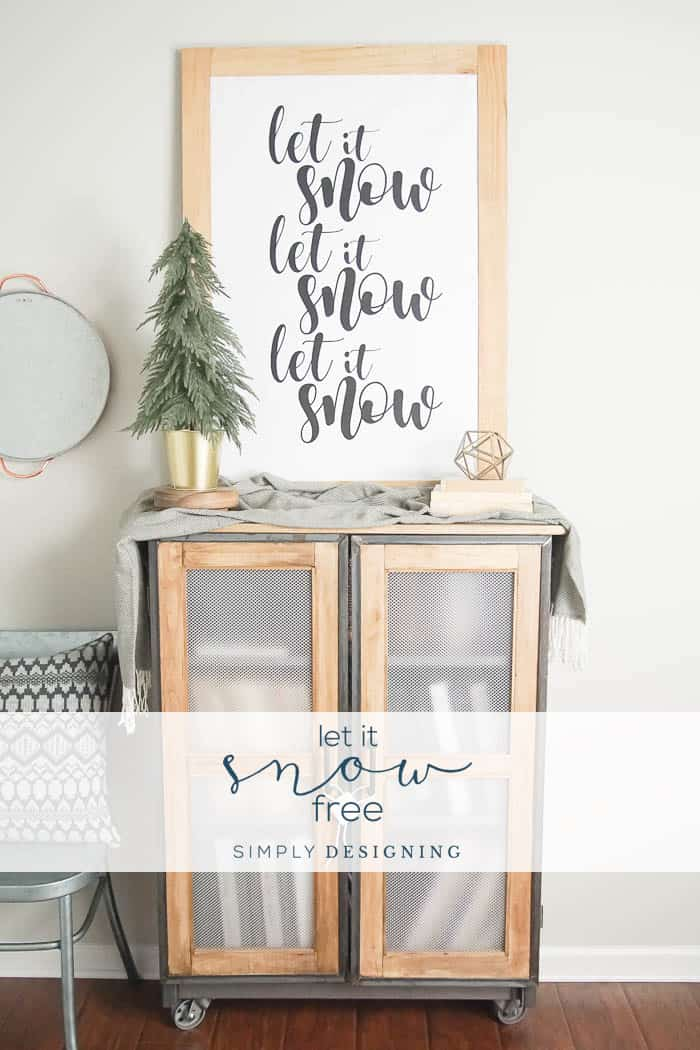 Let It Snow Free Print   Free Winter Print