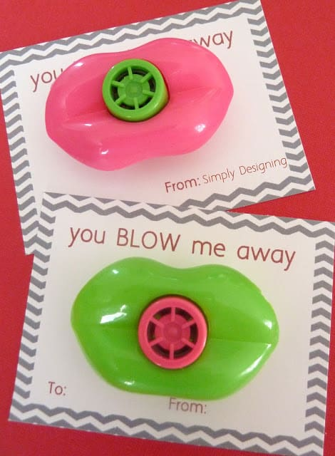 You BLOW me Away Valentines Day Card