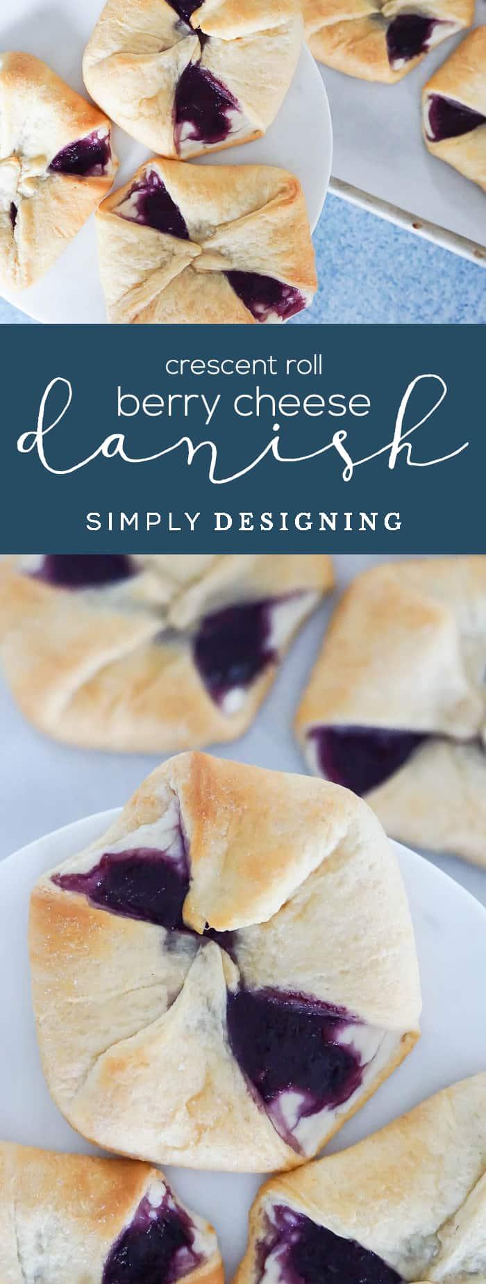 Crescent Roll Berry Cheese Danish Recipe