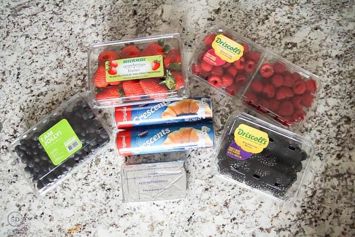 Crescent Rolls Berry Cheese Danish Recipe ingredients