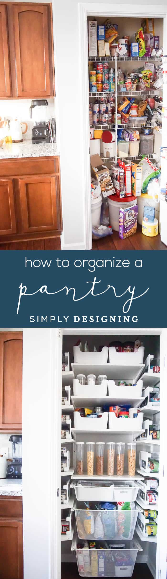 DIY Pantry Organization Ideas - how to organize a pantry - oranize a small pantry - pantry ideas for small spaces